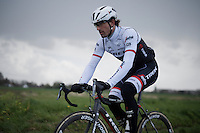 Fabian Cancellara (SUI/Trek-Segafredo) during recon of the 114th Paris - Roubaix 2016