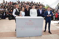 JULIA ROBERTS, JODIE FOSTER, GEORGE CLOONEY, DOMINIC WEST, JACK O'CONNELL - CANNES 2016 - PHOTOCALL DU FILM 'MONEY MONSTER'
