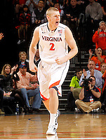 CHARLOTTESVILLE, VA- JANUARY 7:  Paul Jesperson #2 of the Virginia Cavaliers handles the ball during the game against the Miami Hurricanes on January 7, 2012 at the John Paul Jones Arena in Charlottesville, Virginia. Virginia defeated Miami 52-51. (Photo by Andrew Shurtleff/Getty Images) *** Local Caption *** Paul Jesperson
