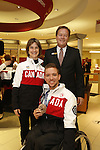 Ottawa, ON - March 28 2014- Para-Nordic skier and biathlete Caroline Bisson and sledge hockey bronze medallist Marc Dorion with Dean Chapman – CIBC District Vice President, Ottawa District (Photo: Patrick Doyle/CIBC)