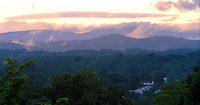 Sunset over the moutains.