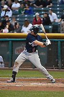 Mike Jacobs (6) of the Reno Aces at bat against the Salt Lake Bees at Smith's Ballpark on May 4, 2014 in Salt Lake City, Utah.  (Stephen Smith/Four Seam Images)