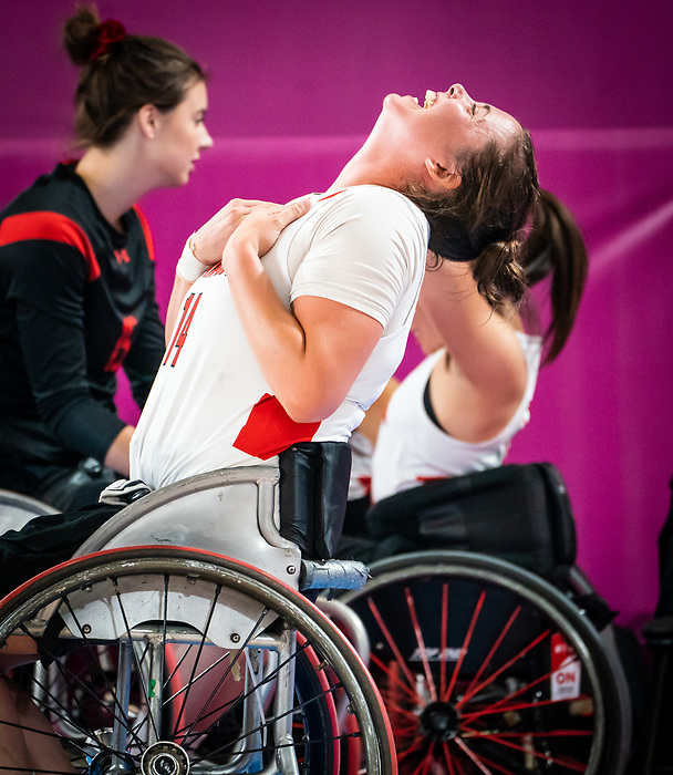 Erica Gavel, Lima 2019 - Wheelchair Basketball // Basketball en fauteuil roulant.<br /> Women's wheelchair basketball competes against Brazil // Le basketball en fauteuil roulant féminin contre Brésil. 29/08/2019.