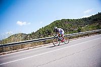 Castellon, SPAIN - SEPTEMBER 7: Biker during LA Vuelta 2016 on September 7, 2016 in Castellon, Spain