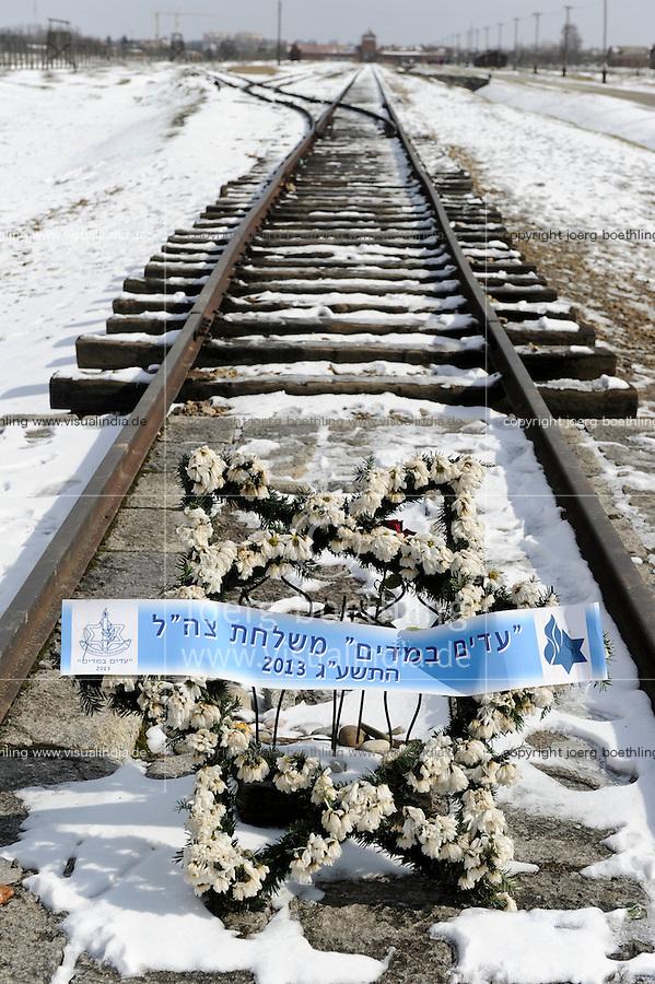 POLAND Oswiecim, Auschwitz-Birkenau II, concentration camp of german Nazi regime, where 1 billion jews where murdered by SS in gas chamber (1940-1945) , UNESCO world heritage / POLEN Oswiecim, Auschwitz-Birkenau II, deutsches nationalsozialistisches Konzentrations- und Vernichtungslager (1940-1945) , hier wurden ca. 1 Million Juden durch die SS in Gaskammern ermordet