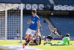 Rangers v St Mirren:  Borna Barisic watches as team mate Alfredo Morelos (hidden) scores goal no 3