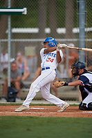 Solomon Canada during the WWBA World Championship at the Roger Dean Complex on October 20, 2018 in Jupiter, Florida.  Solomon Canada is an outfielder form New York, New York who attends Leman Manhattan Preparatory School and is committed to Northeastern.  (Mike Janes/Four Seam Images)