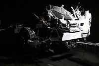 Campinas - SP, 22/11/2019 - Acidente entre dois caminhoes na Rodovia D.Pedro (SP065), proximo ao Km 126 sentido Campinas,  na noite desta quinta-feira (21). Ninguem ficou ferido.  Foto: Denny Cesare/Codigo 19 (Foto: Denny Cesare/Codigo 19/Codigo 19)