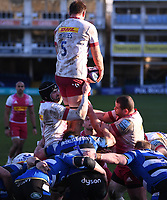 6th February 2021; Recreation Ground, Bath, Somerset, England; English Premiership Rugby, Bath versus Harlequins; Stephan Lewies of Harlequins sets the driving maul starting
