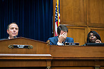 UNITED STATES - SEPTEMBER 26: Chairman Adam Schiff, D-Calif., Reps. Jim Himes, D-Conn., and Terri Sewell, D-Ala., attend the House Intelligence Committee hearing featuring testimony by Joseph Maguire, acting director of national intelligence, on a whistleblower complaint about a phone call between President Trump and Ukrainian President Volodymyr Zelensky, in Rayburn Building on Thursday, September 26, 2019. (Photo By Tom Williams/CQ Roll Call)