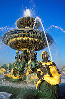 France, Paris, Place de la Concorde, fountain