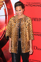 """NEW YORK, NY - NOVEMBER 20: Chrissy Teigen at the New York Premiere Of Lionsgate's """"The Hunger Games: Catching Fire"""" held at AMC Lincoln Square Theater on November 20, 2013 in New York City. (Photo by Jeffery Duran/Celebrity Monitor)"""
