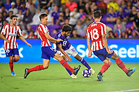 Orlando, FL - Wednesday July 31, 2019:  Carlos Vela #10, Marcos Llorente #14 during an Major League Soccer (MLS) All-Star match between the MLS All-Stars and Atletico Madrid at Exploria Stadium.