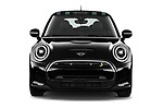 Car photography straight front view of a 2021 MINI Mini-Electric Cooper-SE-Edition-mosaert 3 Door Hatchback Front View