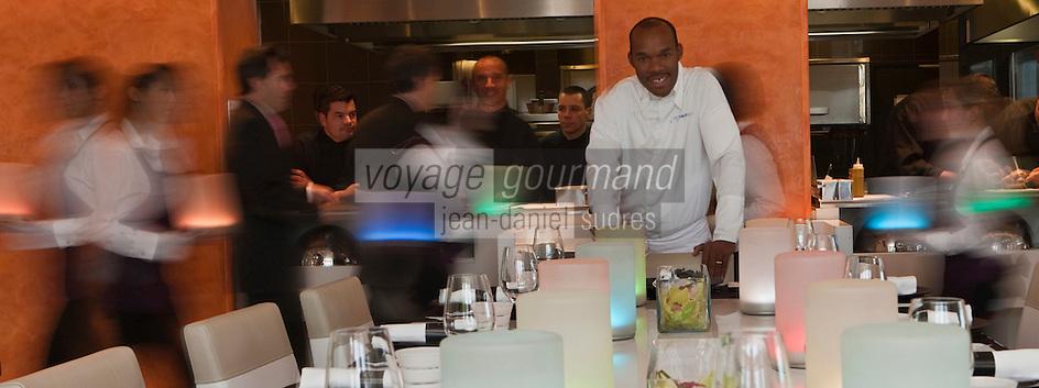 Europe/Monaco/Monte Carlo: Marcel Ravin chef du Restaurant: Le Blue bay au Monte Carlo Bay [Non destiné à un usage publicitaire - Not intended for an advertising use]