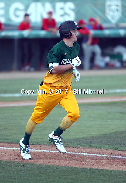 Jack Filby plays in the 2017 Area Code Games on August 6-10, 2017 at Blair Field in Long Beach, California (Bill Mitchell)