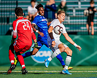 26 October 2019: University of Vermont Catamount Defender Ívar Örn Árnason, a Senior from Akureyri, Iceland, in second half action against the University of Massachusetts Lowell River Hawks at Virtue Field in Burlington, Vermont. The Catamounts rallied to defeat the River Hawks 2-1, propelling the Cats to the America East Division 1 conference playoffs. Mandatory Credit: Ed Wolfstein Photo *** RAW (NEF) Image File Available ***