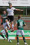 19.09.2020, Dietmar-Scholze-Stadion an der Lohmuehle, Luebeck, GER, 3. Liga, VfB Luebeck vs 1.FC Saarbruecken <br /> <br /> DFB REGULATIONS PROHIBIT ANY USE OF PHOTOGRAPHS AS IMAGE SEQUENCES AND/OR QUASI-VIDEO.<br /> <br /> im Bild / picture shows <br /> Zweikampf/Kopfball. Kopfballduell zwischen Ryan Malone (VfB Luebeck)und Sebastian Jacob (1.FC Saarbruecken)<br /> <br /> <br /> Foto © nordphoto / Tauchnitz