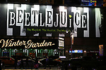 """Theatre Marquee for the Broadway Opening Night Performance of """"Beetlejuice"""" at The Winter Garden on April 25, 2019 in New York City."""
