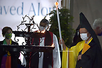 ceremony for peace with representatives from various religions in Campidoglio Square in Rome on October 20, 2020<br /> (Photo by Stefano Spaziani)