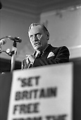 Enoch Powell, Anti-Common Market League, Porchester Hall, Bayswater, London 1983.