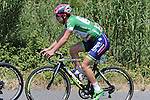 Green Jersey leader Sacha Modolo (ITA) Lampre-Merida during Stage 6 of the 2015 Presidential Tour of Turkey running 184km from Denizli to Selcuk. 30th April 2015.<br /> Photo: Tour of Turkey/Mario Stiehl/www.newsfile.ie