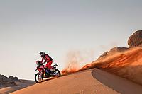 4th January 2021; Dakar Rally stage 2;  #47 Benavides Kevin (arg), Honda, Monster Energy Honda Team 2021, Motul, Moto, Bike, action during the 2nd stage of the Dakar 2021 between Bisha and Wadi Al Dawasir, in Saudi Arabia on January 4, 2021
