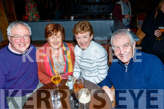 L-R Con&Margaret Denny with Majella&Liam Griffin supporting the 'A Ballad and Folk Night' in the Ashe hotel, Tralee in aid of Tralee Community Responders and Comfort for Chemo Kerry in the Ashe hotel, Tralee last Friday night.