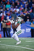 New York Jets Andre Roberts (19) fair catches a punt during an NFL football game against the Buffalo Bills, Sunday, December 9, 2018, in Orchard Park, N.Y.  (Mike Janes Photography)