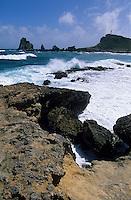 Europe/France/DOM/Antilles/Petites Antilles/Guadeloupe/Pointe des châteaux : La pointe et la mer des Caraïbes
