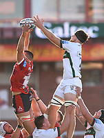 5th September 2020; Kingsholm Stadium, Gloucester, Gloucestershire, England; English Premiership Rugby, Gloucester versus London Irish; Lewis Ludlow of Gloucester steals the lineout ball in the final play of the match