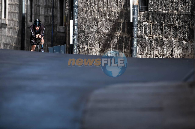 Team DSM in action during Stage 1 of La Vuelta d'Espana 2021, a 7.1km individual time trial around Burgos, Spain. 14th August 2021. <br /> Picture: Unipublic/Charly Lopez | Cyclefile<br /> <br /> All photos usage must carry mandatory copyright credit (© Cyclefile | Unipublic/Charly Lopez)