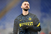 Marcelo Brozovic of FC Internazionale warms up prior to the during the Serie A football match between AS Roma and FC Internazionale at Olimpico stadium in Roma (Italy), January 10th, 2021. Photo Andrea Staccioli / Insidefoto