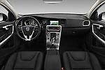 Stock photo of straight dashboard view of 2017 Volvo V60-Cross-Country Summum 5 Door Wagon Dashboard