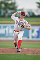 Great Lakes Loons starting pitcher Ryan Pepiot (37) during a Midwest League game against the Clinton LumberKings on July 19, 2019 at Dow Diamond in Midland, Michigan.  Clinton defeated Great Lakes 3-2.  (Mike Janes/Four Seam Images)