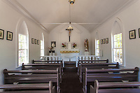 Inside of St. Joseph's Church, built by Father Damien in 1876, Kamalo, Moloka'i