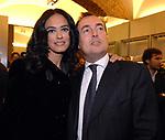MARIA GRAZIA CUCINOTTA CON GIULIO VIOLATI<br /> APERTURA STORE FAY A FONTANELLA BORGHESE ROMA 10/2008