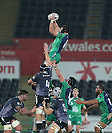 Connacht flanker John Muldoon takes the line out ball.<br /> Guiness Pro12<br /> Ospreys v Connacht<br /> Liberty Stadium<br /> 31.10.14<br /> ©Steve Pope-SPORTINGWALES