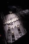 Glasses cast shadow at beginning of wine tasting
