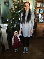 Pictured: Kiara Moore with her mum Kim Rowlands. (IMAGE TAKEN FROM PARENTS OPEN SOCIAL MEDIA PAGE)<br /> Re: The funeral of two year old Kiara Moore, who died after being recovered from a silver Mini car found in river Teifi in Cardigan will be held today (Tue 27 Mar 2018) at Parc Gwyn Crematorium, Narberth, west Wales.<br /> Kiara was taken at the University Hospital of Wales in Cardiff after being rescued but was pronounced dead.<br /> It is believed the car she was in, rolled down a slipway while her mother got out momentarily to get cash out of the family business premises.<br /> Her parents Jet Moore and Kim Rowlands have expressed their grief on social media.