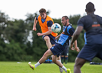 New Signing Dayle Southwell scores during the Wycombe Wanderers 2016/17 Pre Season Training Session at Wycombe Training Ground, High Wycombe, England on 1 July 2016. Photo by Andy Rowland.