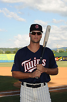 Elizabethton Twins Matt Wallner (48) poses for a photo prior to a game against the Kingsport Mets at Northeast Community Credit Union Ballpark on July 5, 2019 in Elizabethton, Tennessee. The Twins defeated the Mets 7-1. (Tracy Proffitt/Four Seam Images)