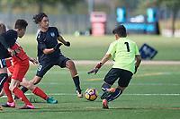 Frisco, TX - October 22, 2017: The U.S. Soccer Development Academy 2017 U-13/U-14 Central Regional Showcase at Toyota Soccer Center.