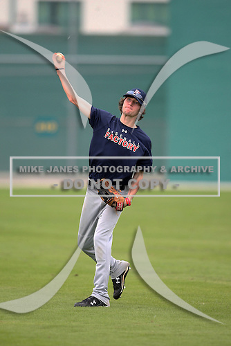 December 28, 2009:  Tyler Osterman (11) of the Baseball Factory Owls team during the Pirate City Baseball Camp & Tournament at Pirate City in Bradenton, Florida.  (Copyright Mike Janes Photography)