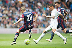 Real Madrid's Carlos Henrique Casemiro and Sociedad Deportiva Eibar's Keko Gontan during La Liga match. April 09, 2016. (ALTERPHOTOS/Borja B.Hojas)