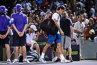 Andy Roddick (USA) vince su Roger Federer (Suiss).Torneo di tennis di Miami.26/03/2012 Miami.Foto Insidefoto / Antoine Courvercelle ..Only Italy