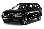2020 Volvo XC90 R-Design 5 Door SUV angular front stock photos of front three quarter view