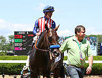 June 7, 2014: Bayern, Gary Stevens up, wins the 30th running of the Grade Il, Woody Stevens, seven furlongs on the dirt for three year olds at Belmont Park , Elmont, NY Trainer is Bob Baffert.  ©Joan Fairman Kanes/ESW/CSM