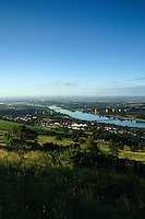 The River Clyde and the Erskine Bridge from the Kilpatrick Hills, Dunbartonshire<br /> <br /> Copyright www.scottishhorizons.co.uk/Keith Fergus 2011 All Rights Reserved