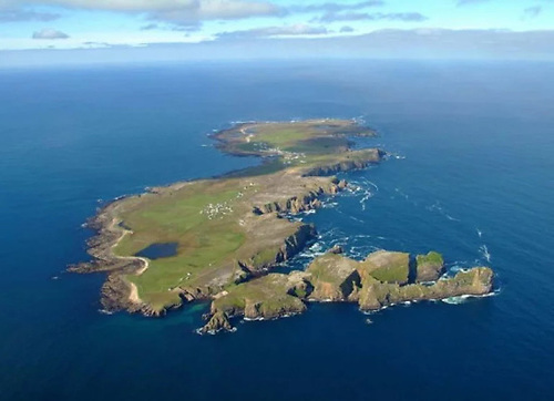 Aerial image of Tory Island off North Donegal